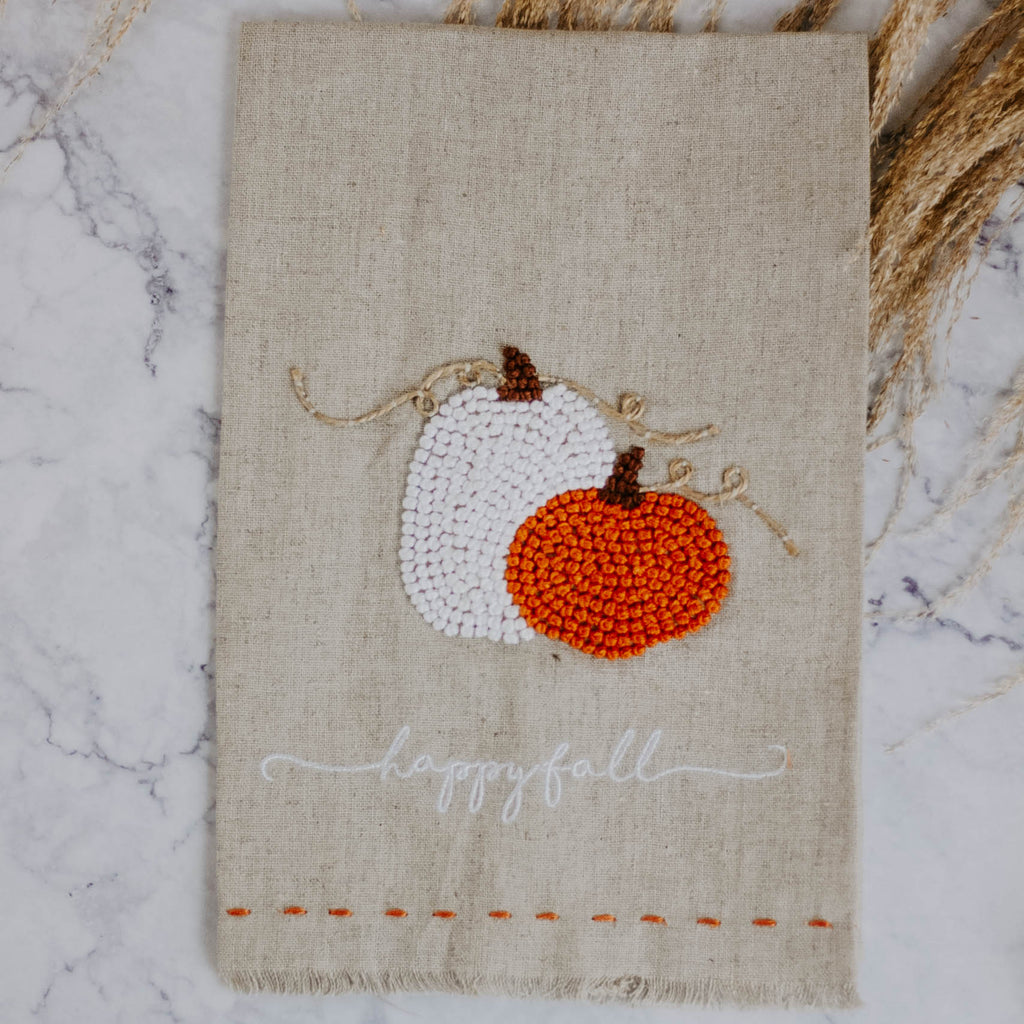 Fall French Knot Towel
