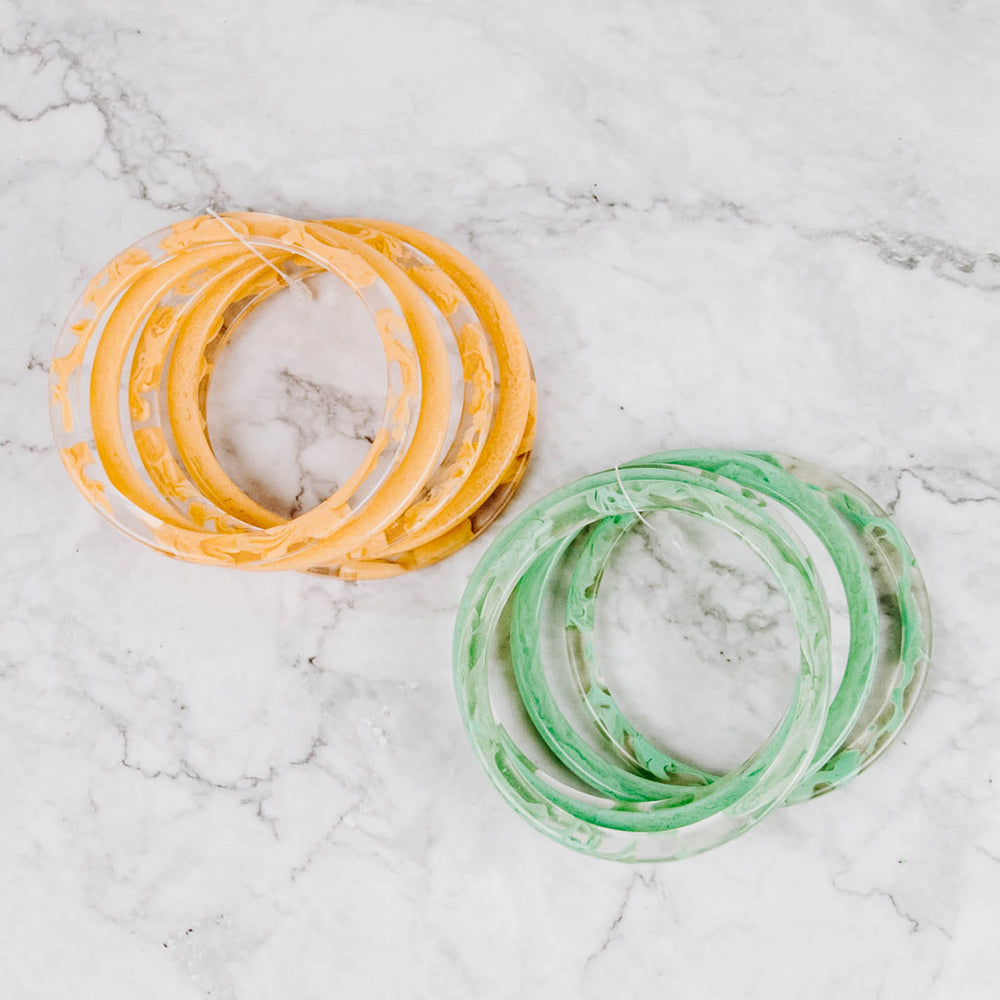 Bright Marbled Bangles