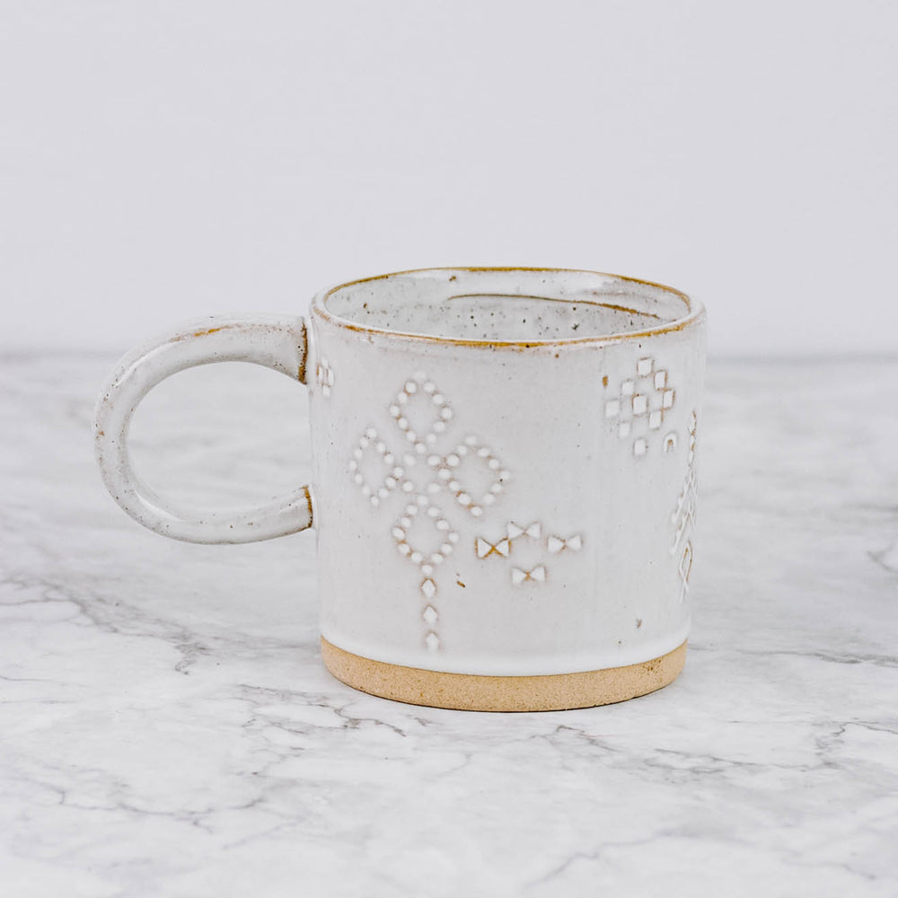 White Southwest Mug