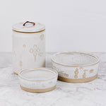 White Stoneware Pet Accessories