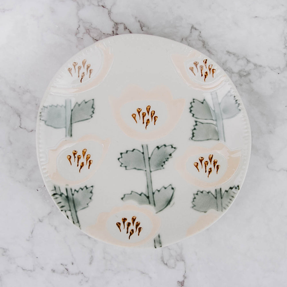 Small Hand Painted Floral Plate