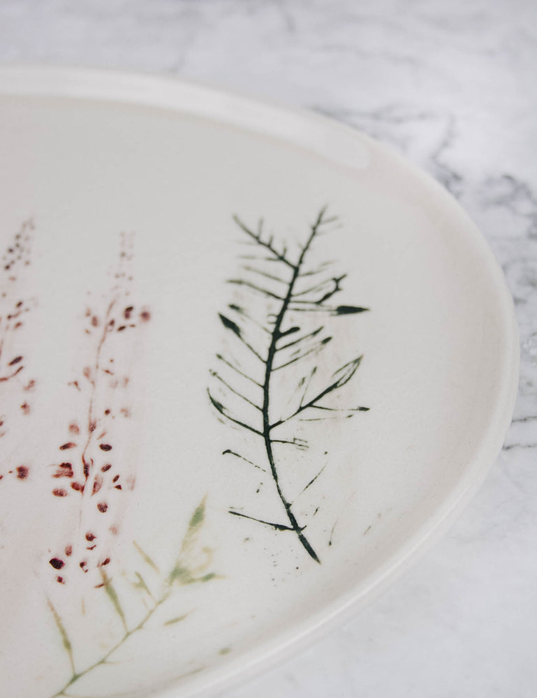 Oval Botanical Platter