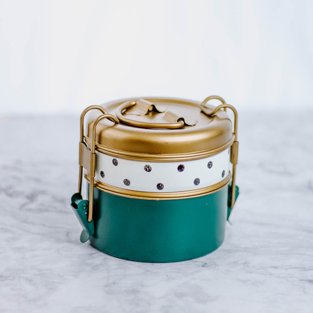 Tiered Metal Lunch Tin