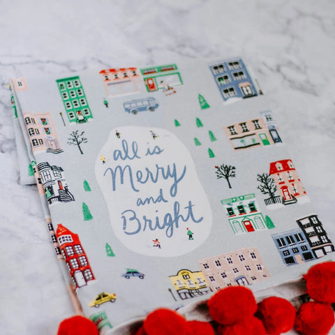Merry & Bright Pom Pom Dish Towel