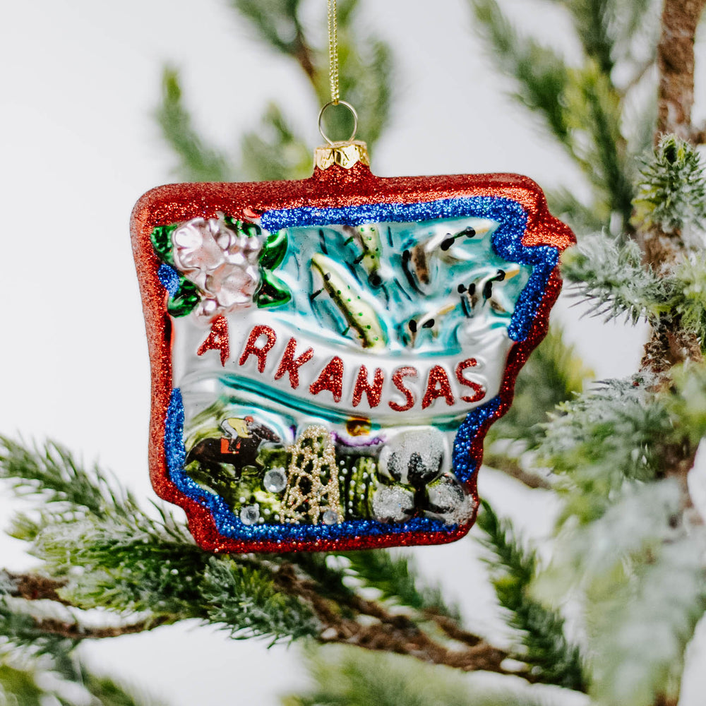 Glass Arkansas Ornament