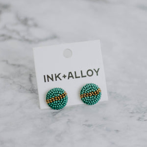 Round Beaded Post Earrings