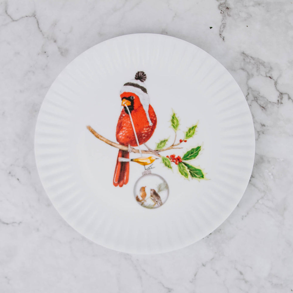 Mini Christmas Bird Plate