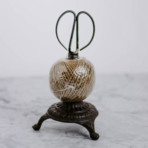 Ball of Twine on Stand with Scissors