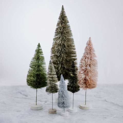 Rainbow Bottle Brush Tree Set