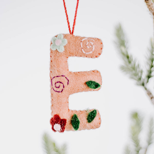 Felted Alphabet Ornament