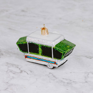 Glass Camper Ornaments