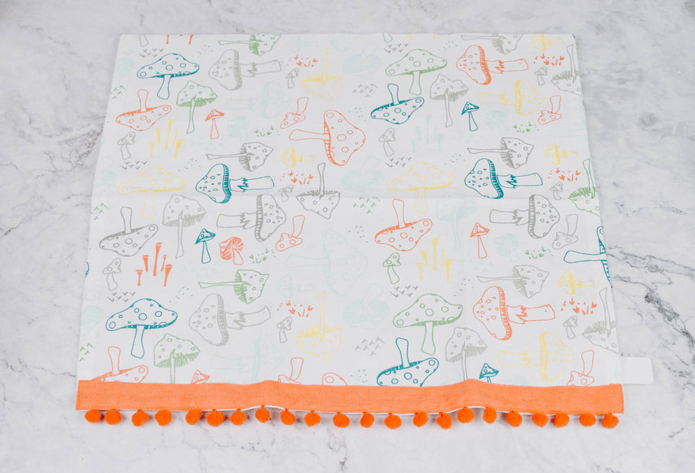 Load image into Gallery viewer, Colorful Mushroom Tea Towel