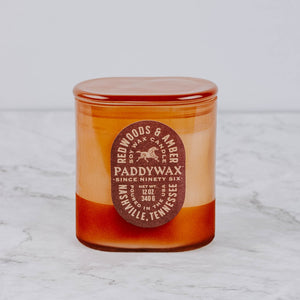 Redwoods & Amber Terra Cotta Glass Candle