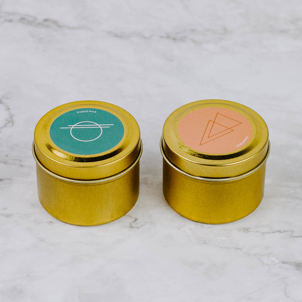 Mini Gold Tin Candle