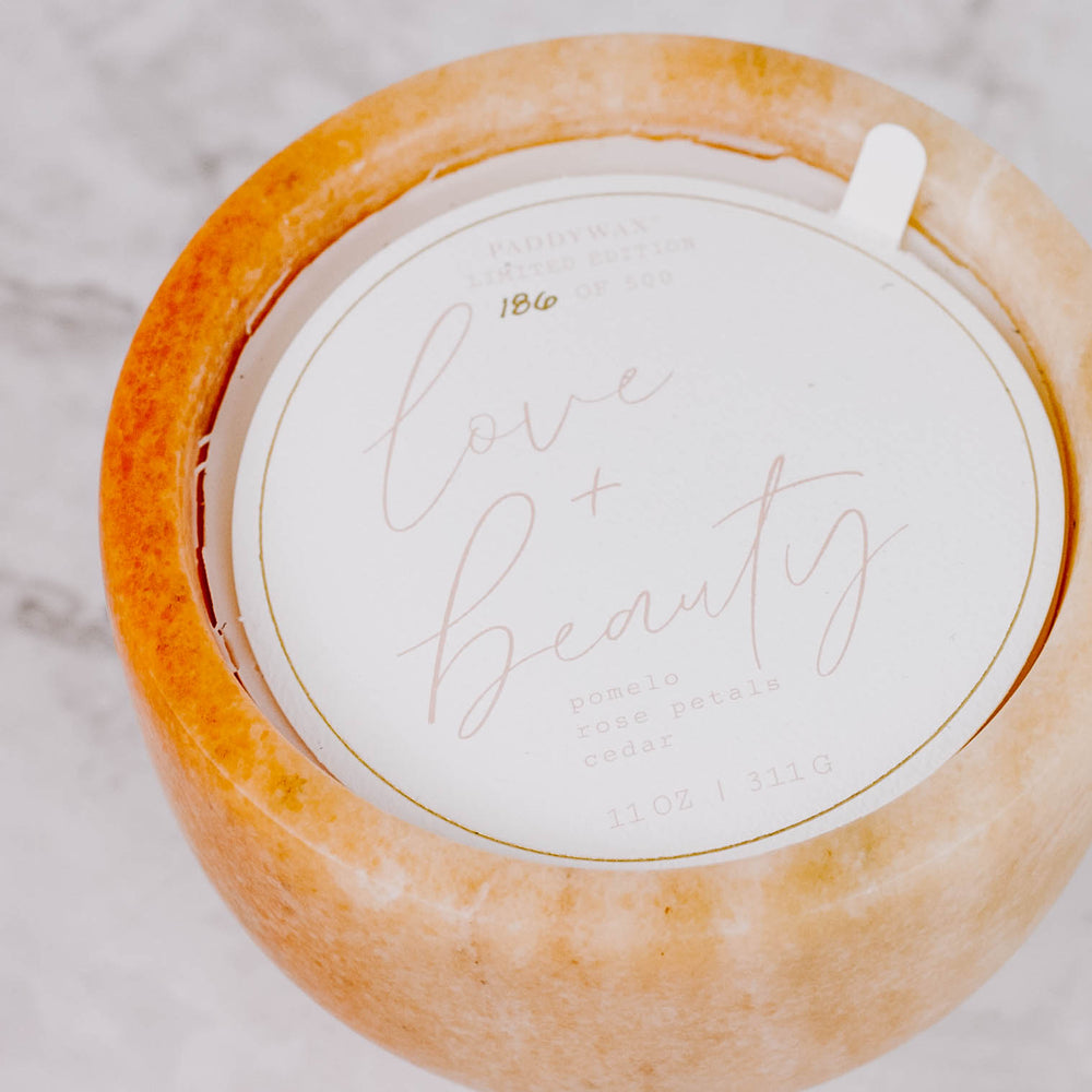 Love & Beauty Limited Edition Marble Candle