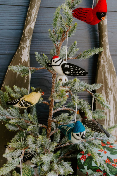 Felted Wild Bird Ornament