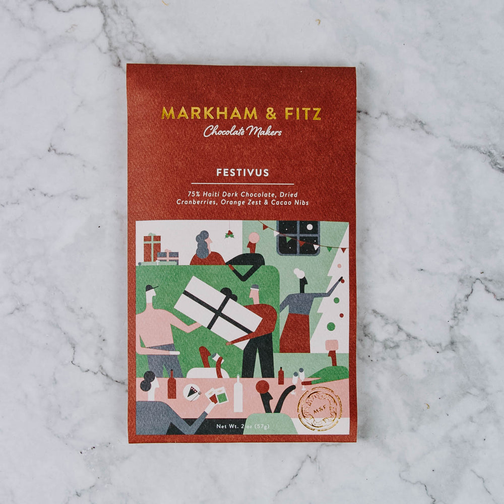 Holiday Markham & Fitz Chocolate Bar