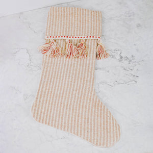 Load image into Gallery viewer, Red Sparkle Stripe Stocking