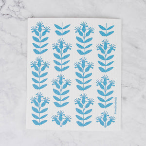 Load image into Gallery viewer, Three Bluebirds Swedish Dishcloth