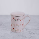 Holiday Lights Ceramic Mug With Infuser