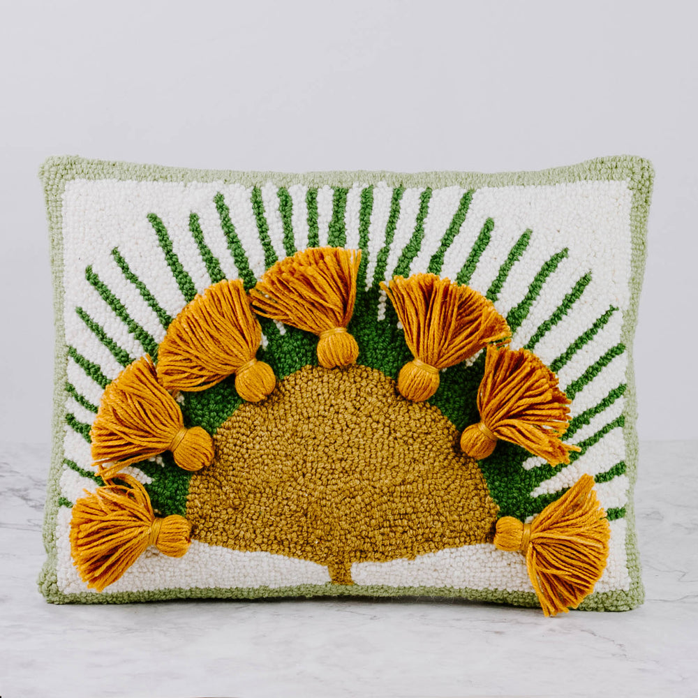 Plant Hook Pillow With Tassels