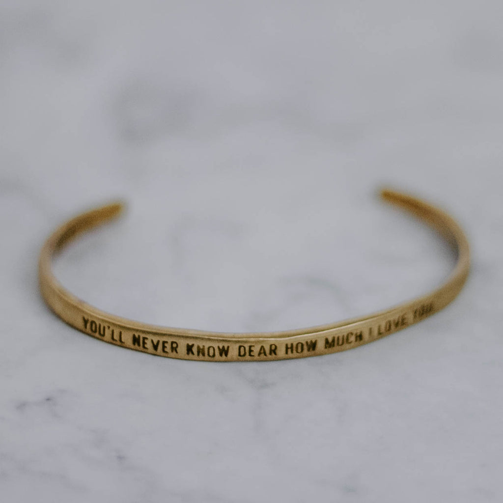 Quote Brass Cuff