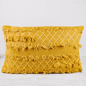 Load image into Gallery viewer, Citron Tassel Lumbar Pillow