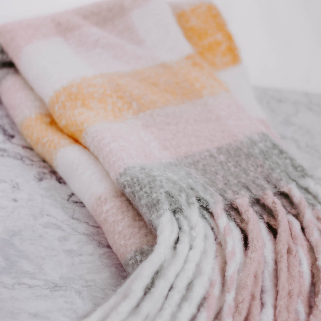 Winter Pastel Plaid Scarf