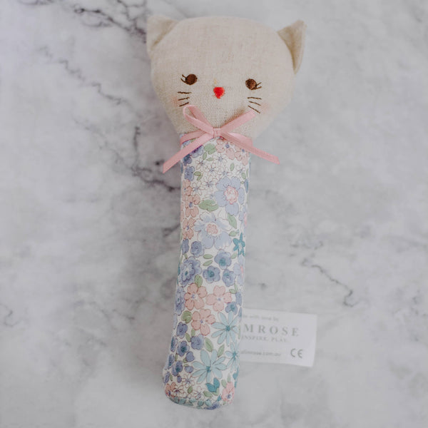 Plush Floral Squeaker Toy