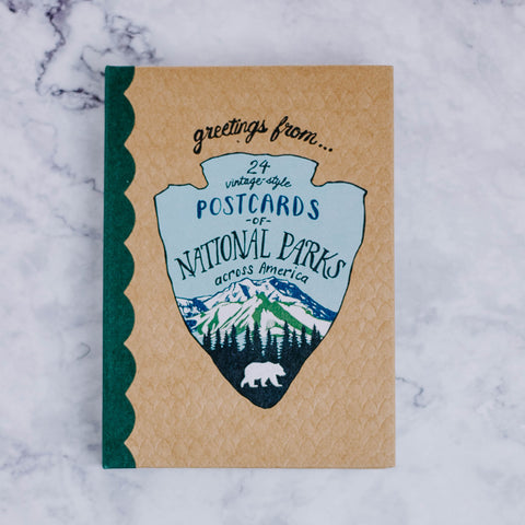 Postcards of National Parks Across America Book