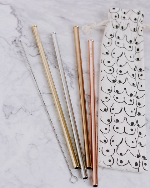 Modern Reusable Straw Set