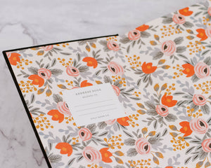 Load image into Gallery viewer, Black Floral Address Book