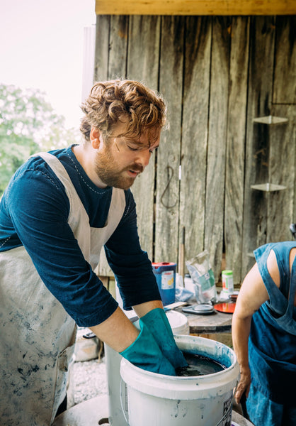 Indigo & Shibori Workshop with Aaron Sanders Head: September 15th