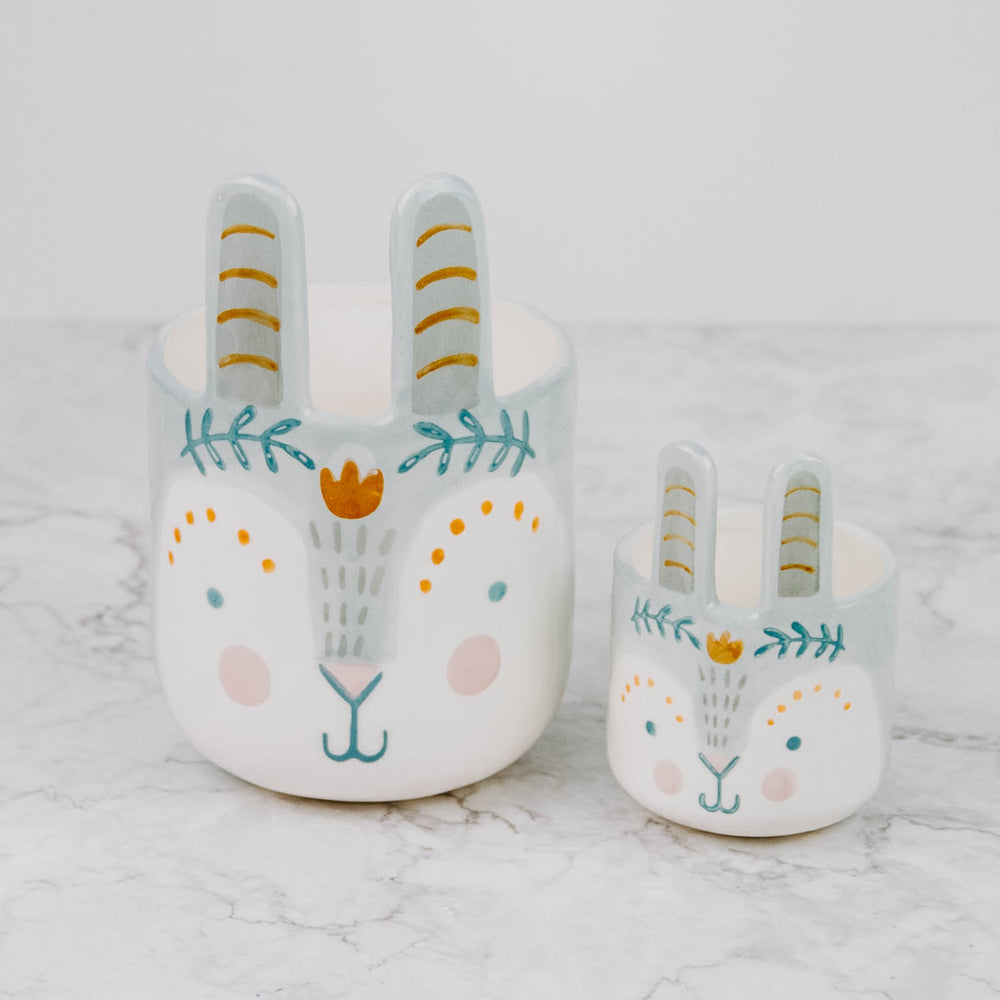 Painted Bunny Pot