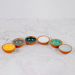 Load image into Gallery viewer, Colorful Terra Cotta Dip Bowls
