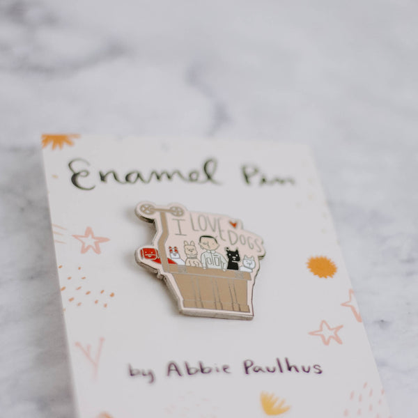 I Love Dogs Enamel Pin