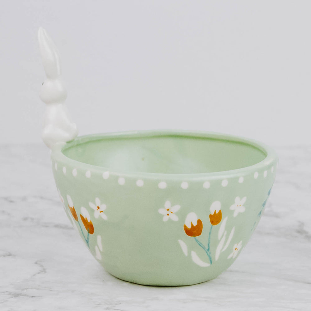 Floral Easter Bunny Bowl