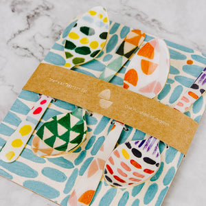 Abstract Patterned Spoon Set