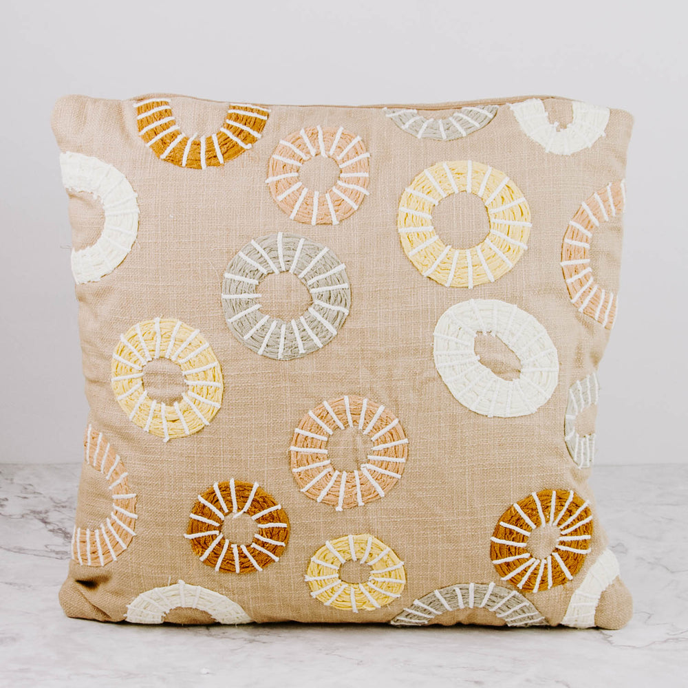Load image into Gallery viewer, Geometric Circle Pillow
