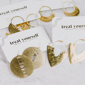 Gold Lunar Phases Earrings
