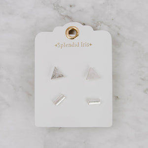 Load image into Gallery viewer, Geometric Stud Earring Set