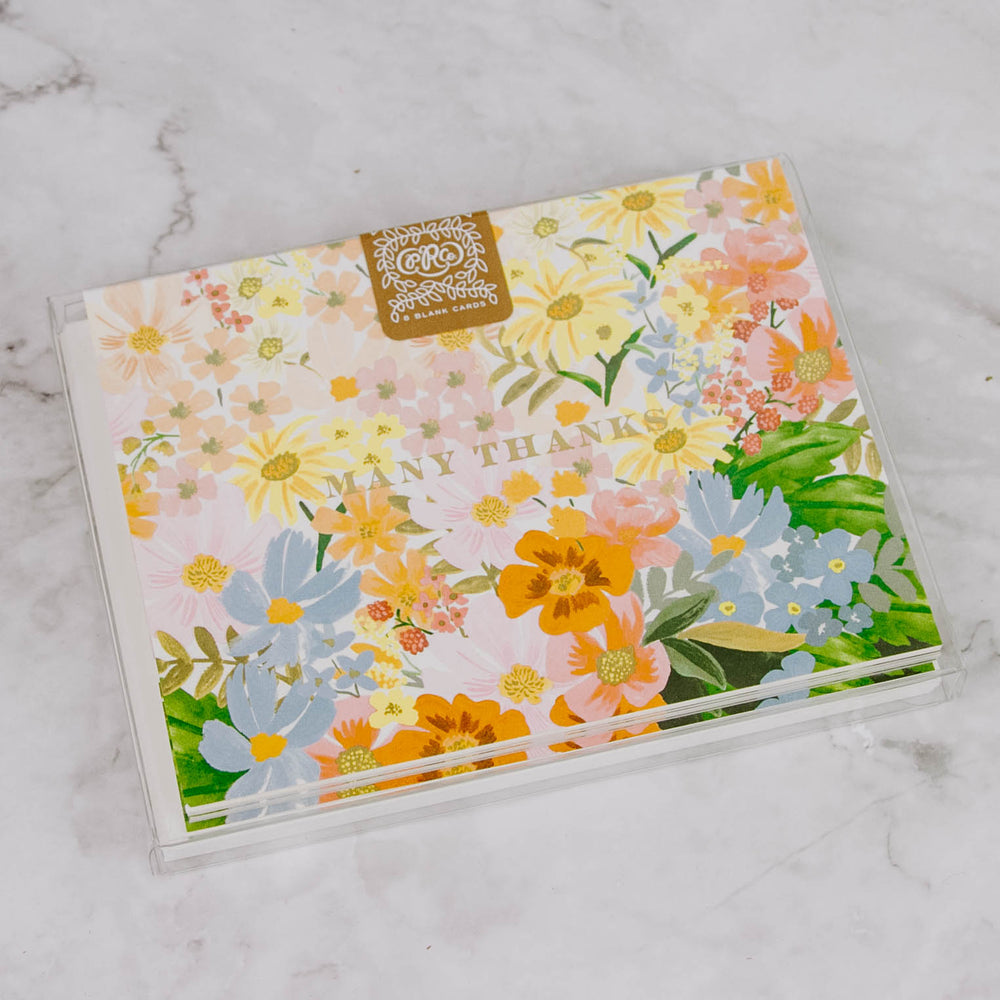 Many Thanks Floral Card Box Set