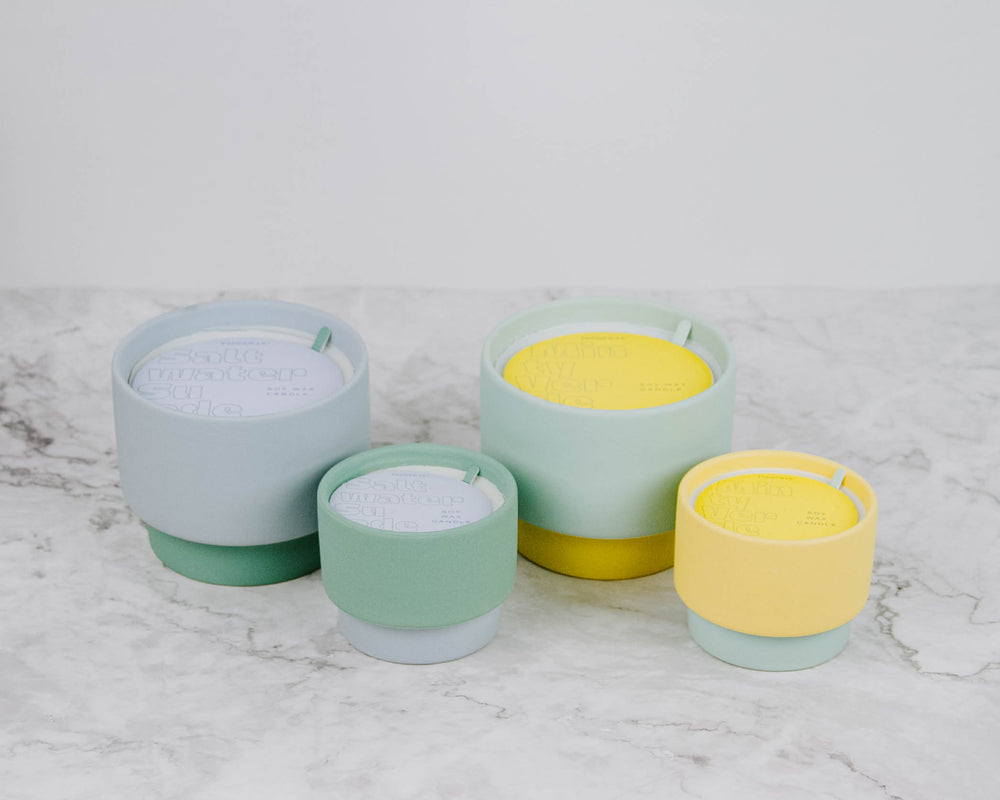 Colorblock Ceramic Candle