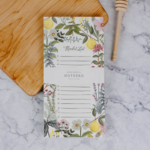 Herb and Floral Market List