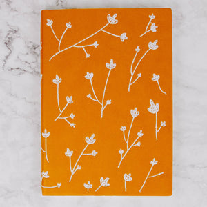 Floral Embroidered Notebook