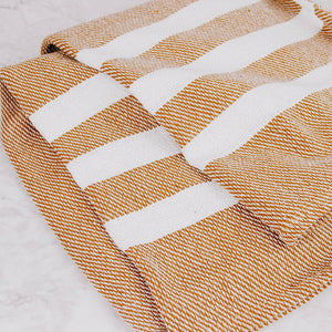 Rust Striped Throw Blanket