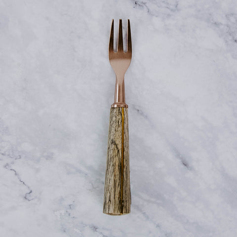 Cocktail Fork With Wood Handle