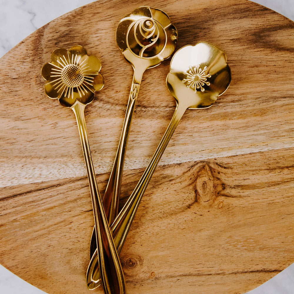 Gold Floral Spoon
