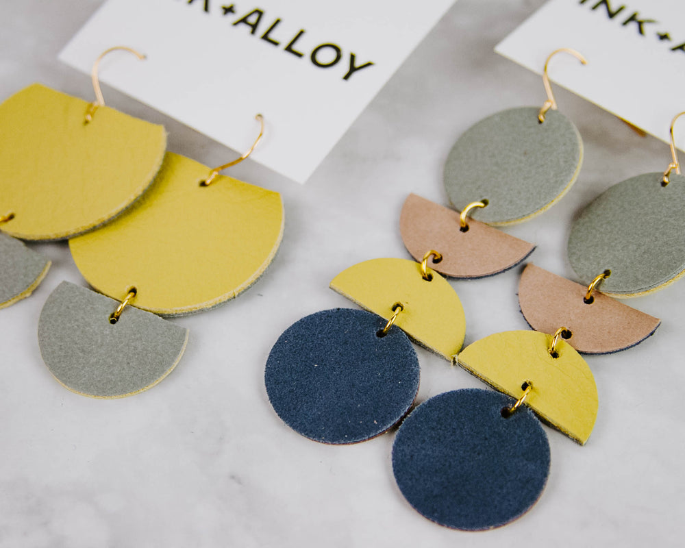 Colorful Leather Earrings