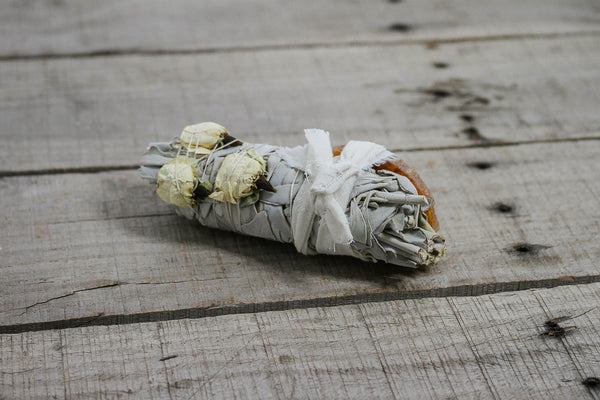 White Sage & Floral Smudge Sticks